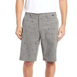 Travis Mathew Panek Print Gray Shorts 38